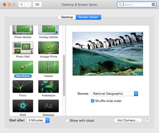 slideshow photos mac
